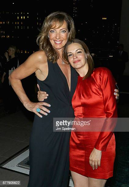 Actresses Allison Janney and Tammy Blanchard attend the special screening after party for 'Tallulah' hosted by Netflix at Jimmy at The James Hotel on...