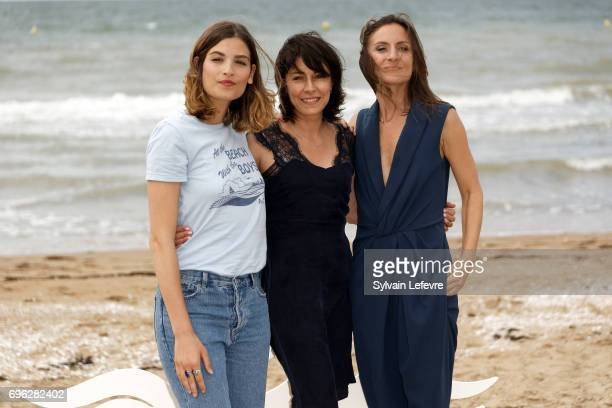 Actresses Alma Jodorowsky Maryline Canto and Camille Chamoux attend 'le ciel etoile audessus de ma tete' photocall during the 2nd day of 31st Cabourg...