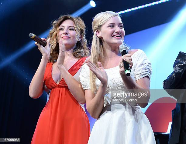 Actresses Aly and AJ Michalka attend the 20th Annual Race To Erase MS Gala 'Love To Erase MS' at the Hyatt Regency Century Plaza on May 3 2013 in...