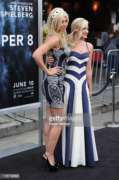 Actresses Alyson Michalka and Amanda Michalka arrive at the premiere of Paramount Pictures' 'Super 8' at Regency Village Theatre on June 8 2011 in...