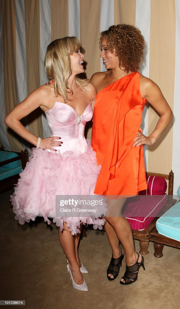 Actresses Amanda Holden (L) and Angela Griffin attend the after party following the UK premiere of 'Sex And The City 2' at The Orangery, Kensington Gardens on May 27, 2010 in London, England.
