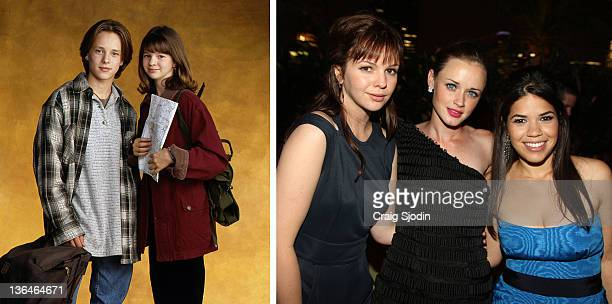 In this composite image a comparison has been made of actress Amber Tamblyn Many of today's leading Hollywood stars began their careers in daytime...