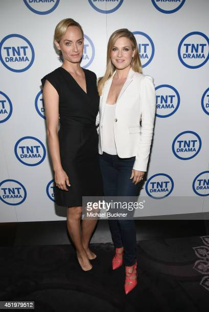 Actresses Amber Valletta and Ali Larter attend the 'Legends' portion of the 2014 TCA Turner Broadcasting Summer Press Tour Presentation at The...