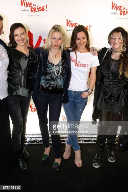 Actresses Amel Annoga Florence Thomassin Emmanuelle Boidron and Angelique Litzenburger attend the 'Vive la Crise' Paris Premiere at Cinema Max Linder...