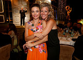 Actresses Amelia Heinle and Laura Wright attend The 41st Annual Daytime Emmy Awards at The Beverly Hilton Hotel on June 22 2014 in Beverly Hills...