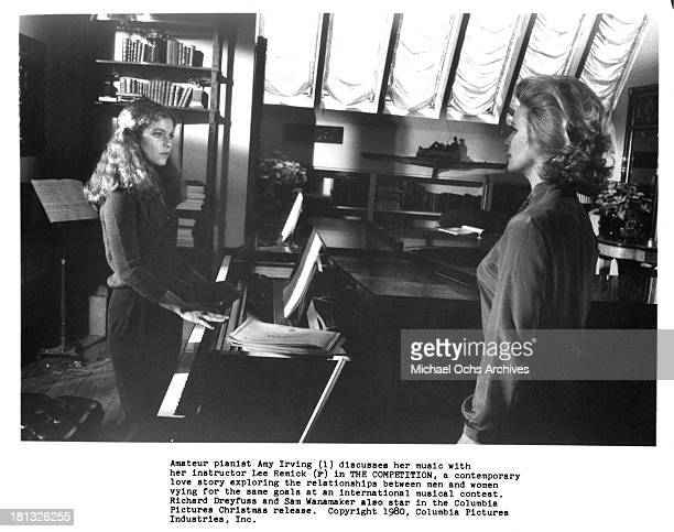 Actresses Amy Irving and Lee Remick on set of the Columbia Pictures movie 'The Competition' in 1980