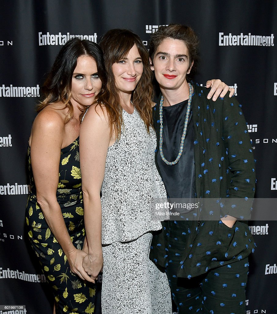 Actresses Amy Landecker, Kathryn Hahn and Gaby Hoffmann attend Entertainment Weekly's Toronto Must List party at the Thompson Hotel on September 10, 2016 in Toronto, Canada.