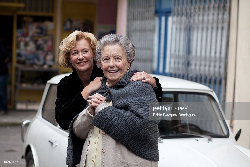 Actresses Ana Duato and Maria Galiana attends 'Cuentame Como Paso' 14th Season presentation at Estudios Grupo Ganga on January 9, 2013 in Pinto, Spain.