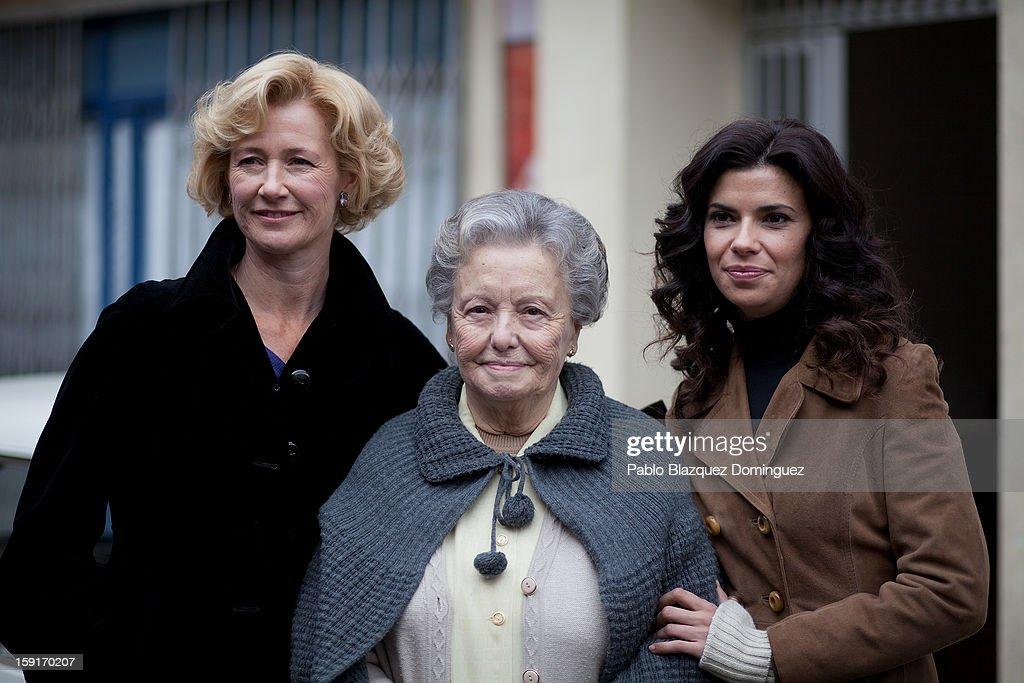 Actresses Ana Duato, Maria Galiana and Pilar Punzano attends 'Cuentame Como Paso' 14th Season presentation at Estudios Grupo Ganga on January 9, 2013 in Pinto, Spain.
