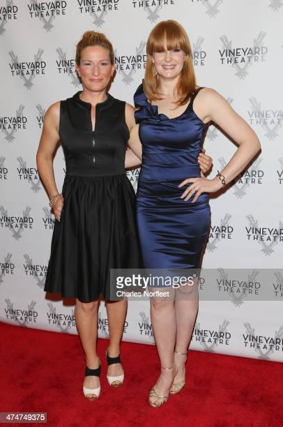 Actresses Ana Gasteyer and Kate Baldwin attend the 2014 Vinyard Theatre Gala at The Edison Ballroom on February 24 2014 in New York City