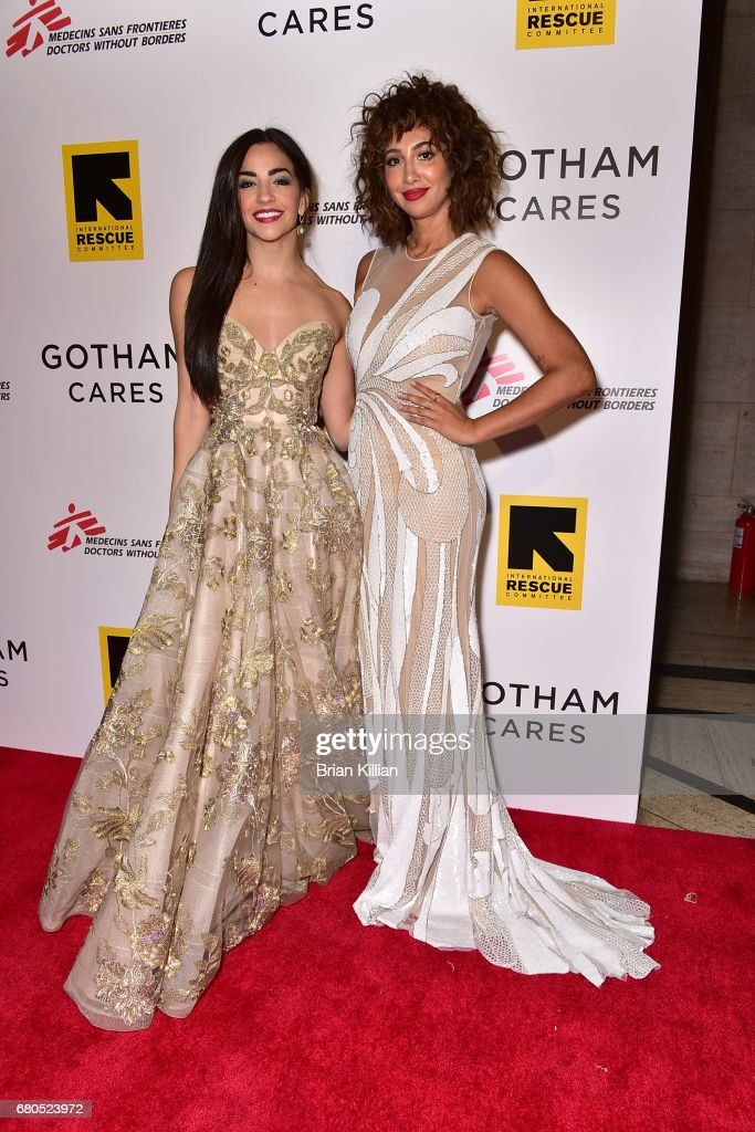 Actresses Ana Villafane and Jackie Cruz attend the Gotham Cares Gala Fundraiser at Cipriani 25 Broadway on May 8, 2017 in New York City.