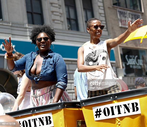 Actresses and Danielle Brooks and Samira Wiley seen during 2014 NY Pride Netflix's Orange Is The New Black on June 29 2014 in New York City