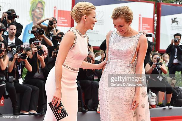 Actresses and jury members Elisabeth Banks and Diane Kruger attend the opening ceremony and premiere of 'Everest' during the 72nd Venice Film...