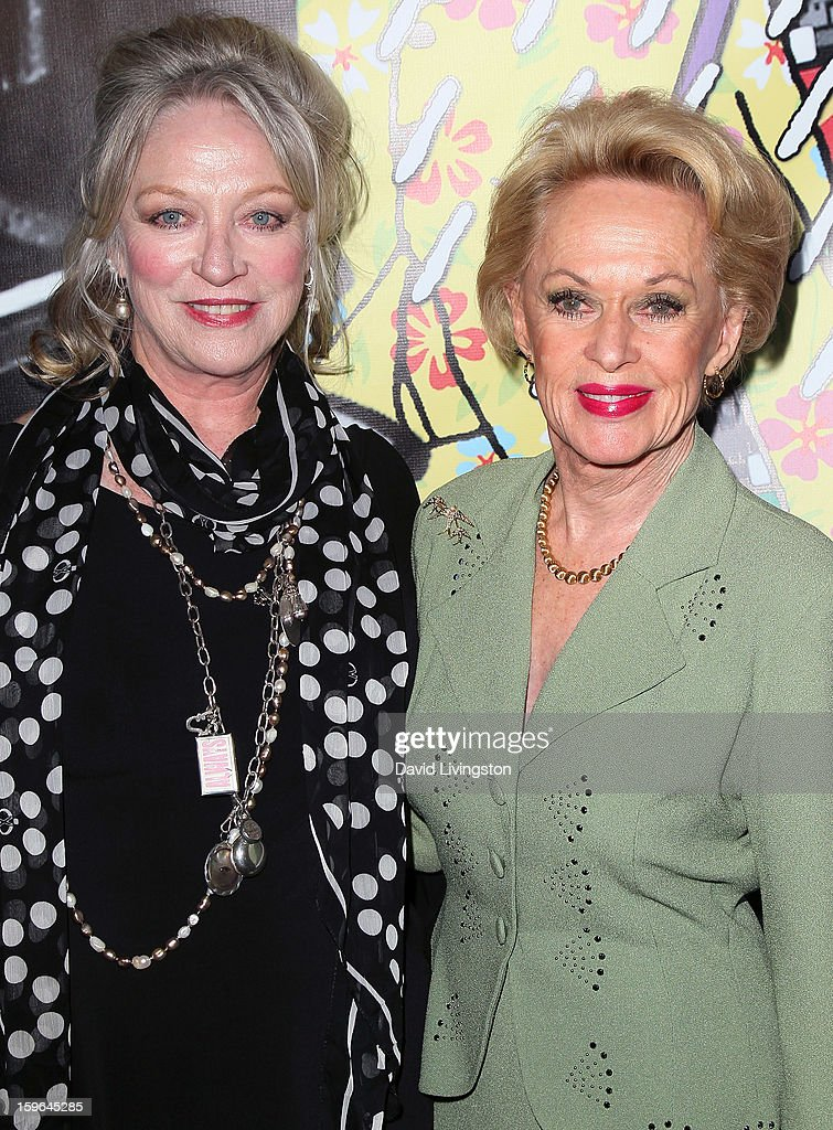 Actresses and 'The Birds' cast members Veronica Cartwright (L) and Tippi Hedren attend the 'Directors Series' 2nd Annual Commemorative Ticket press event presented by Red Line Tours at the Egyptian Theatre on January 17, 2013 in Hollywood, California.