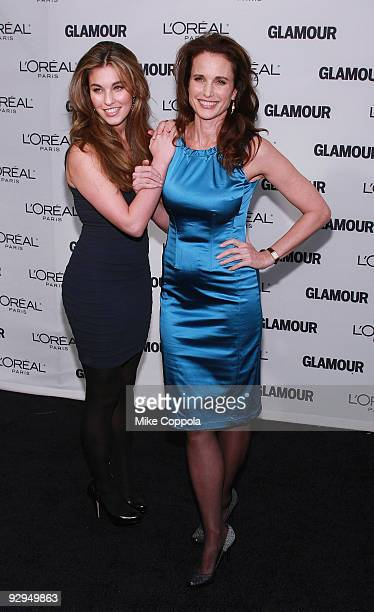 Actresses Andie MacDowell and daughter Rainey Qualley attends the Glamour Magazine 2009 Women of The Year Honors at Carnegie Hall on November 9 2009...