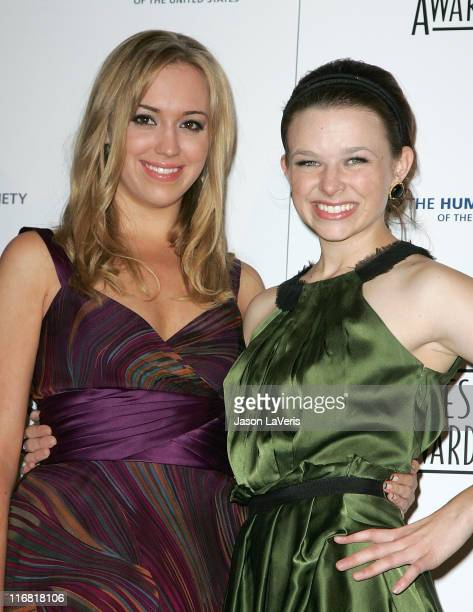 Actresses Andrea Bowen and Joy Lauren attend The 22nd Annual Genesis Awards at the Beverly Hilton Hotel on March 29 2008 in Beverly Hills California