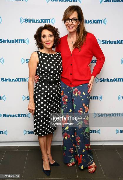 Actresses Andrea Martin and Allison Janney visit the SiriusXM Studios on April 24 2017 in New York City