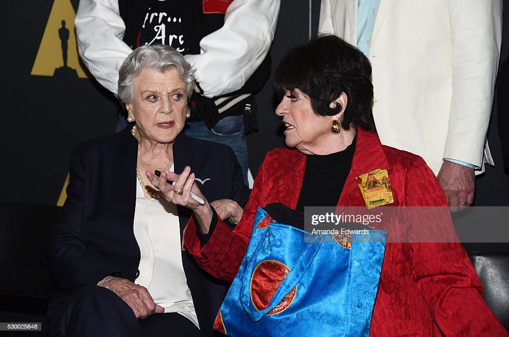 Actresses Angela Lansbury and Jo Anne Worley attend the Academy's 25th Anniversary Screening of 'Beauty And the Beast' A Marc Davis Celebration of...