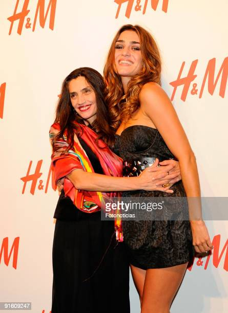 Actresses Angela Molina and Olivia Molina attend the store opening of the HM Gran Via on October 8 2009 in Madrid Spain