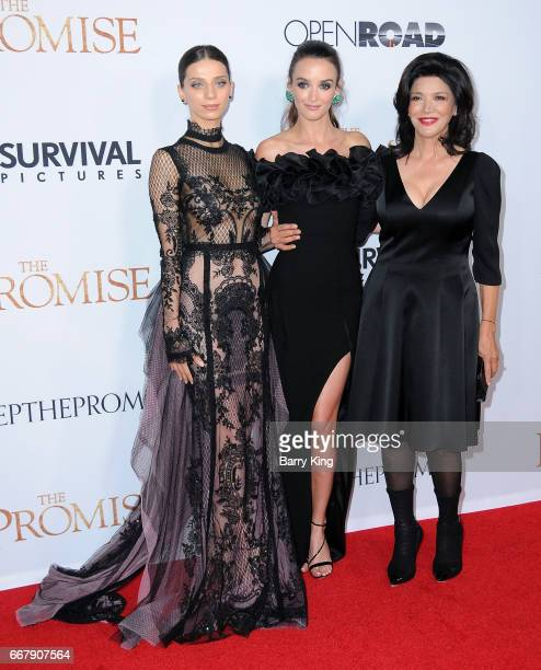Actresses Angela Sarafyan Charlotte Le Bon and Shohreh Aghdashloo attend premiere of Open Roads Films' 'The Promise' at TCL Chinese Theatre on April...