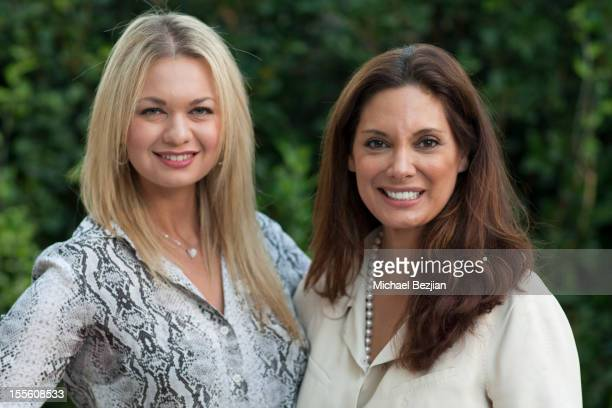 Actresses AngelineRose Troy and Alex Meneses attend Author Cynthia Bardes launches her new children's book 'Pansy At The Palace' at Peninsula Hotel...
