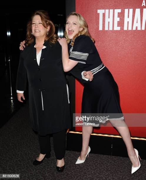 Actresses Ann Dowd and Elisabeth Moss attend 'The Handmaid's Tale' FYC event at DGA Theater on August 14 2017 in Los Angeles California