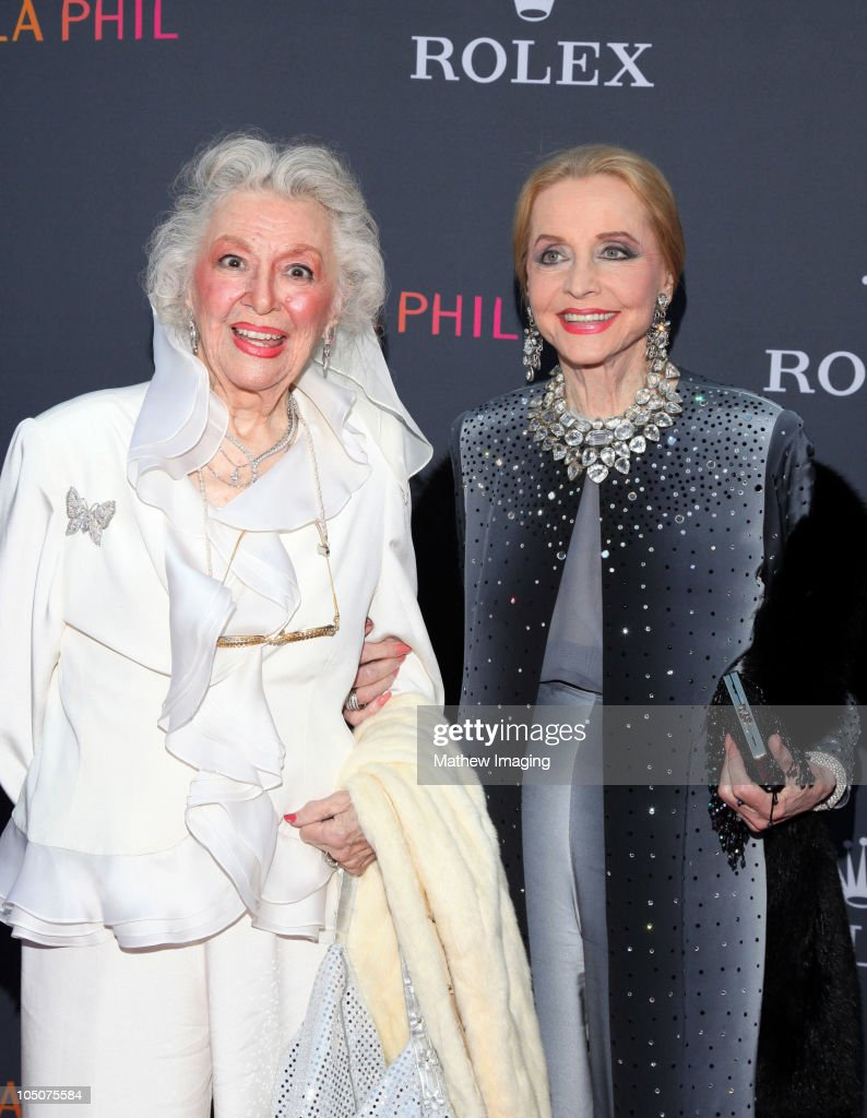 Actresses Ann Rutherford (L) and Anne Jeffreys arrive at the Los Angeles Philharmonic Opening Night Gala at the Walt Disney Concert Hall on October 7, 2010 in Los Angeles, California.