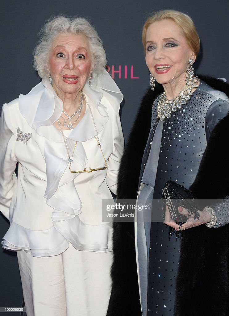 Actresses Ann Rutherford and Anne Jeffreys attend the The Los Angeles Philharmonic season opening night gala at Walt Disney Concert Hall on October 7, 2010 in Los Angeles, California.