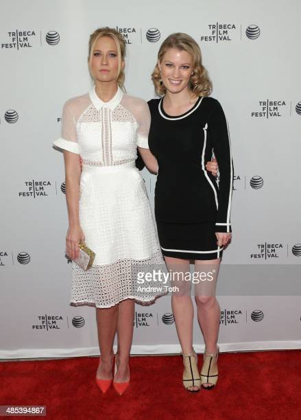 Actresses Anna Camp and Ashley Hinshaw attend 'Goodbye To All That' screening during the 2014 Tribeca Film Festival at SVA Theater on April 17 2014...