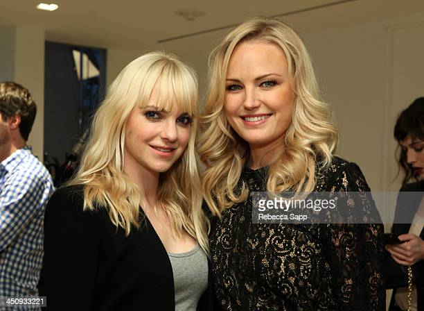 Actresses Anna Faris and Malin Akerman attend Variety Awards Studio Day 1 at the Leica Gallery and Store on November 20 2013 in West Hollywood...