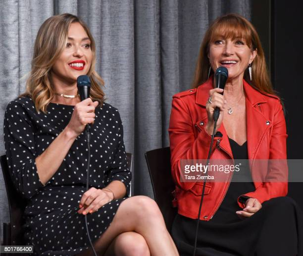 Actresses Annabelle Stephenson and Jane Seymour speak at SAGAFTRA Foundation Conversations Screening Of 'Pray For Rain' at SAGAFTRA Foundation...