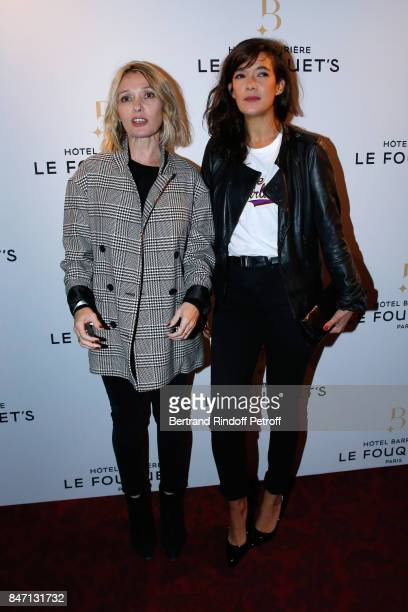 Actresses Anne Marivin and Melanie Doutey attend the Reopening of the Hotel Barriere Le Fouquet's Paris decorated by Jacques Garcia at Hotel Barriere...