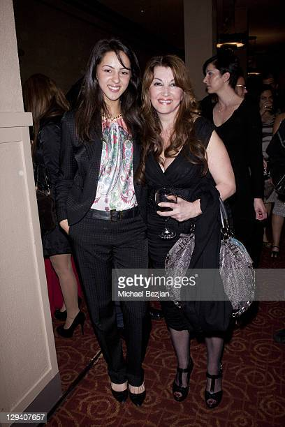 Actresses Annet Mahendru and Mary Apick at 'Beneath The Veil' Post Play Reception at Alex Theatre on March 11 2011 in Glendale California
