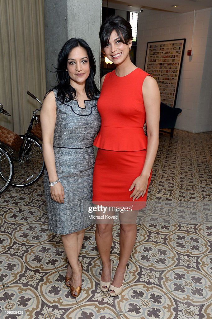 Actresses Archie Panjabi (L) and Morena Baccarin attend the Variety Emmy Studio at Palihouse on May 30, 2013 in West Hollywood, California.