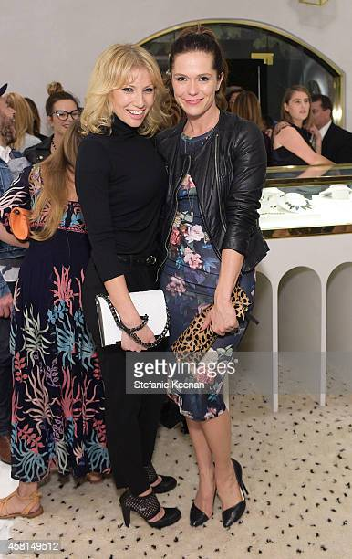 Actresses Ari Graynor and Katie Aselton attend the Irene Neuwirth Flagship Grand Opening on October 30 2014 in West Hollywood California
