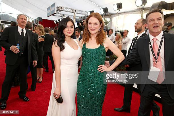 Actresses Ariel Winte and Julianne Moore rattends TNT's 21st Annual Screen Actors Guild Awards at The Shrine Auditorium on January 25 2015 in Los...