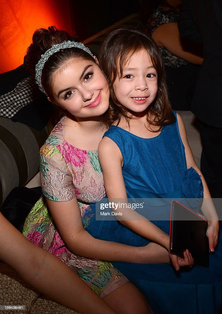 Actresses <a gi-track='captionPersonalityLinkClicked' href=/galleries/search?phrase=Ariel+Winter&family=editorial&specificpeople=715954 ng-click='$event.stopPropagation()'>Ariel Winter</a> (L) and <a gi-track='captionPersonalityLinkClicked' href=/galleries/search?phrase=Aubrey+Anderson-Emmons&family=editorial&specificpeople=8203980 ng-click='$event.stopPropagation()'>Aubrey Anderson-Emmons</a> attend the FOX After Party for the 70th Annual Golden Globe Awards held at The FOX Pavillion at The Beverly Hilton Hotel on January 13, 2013 in Beverly Hills, California.