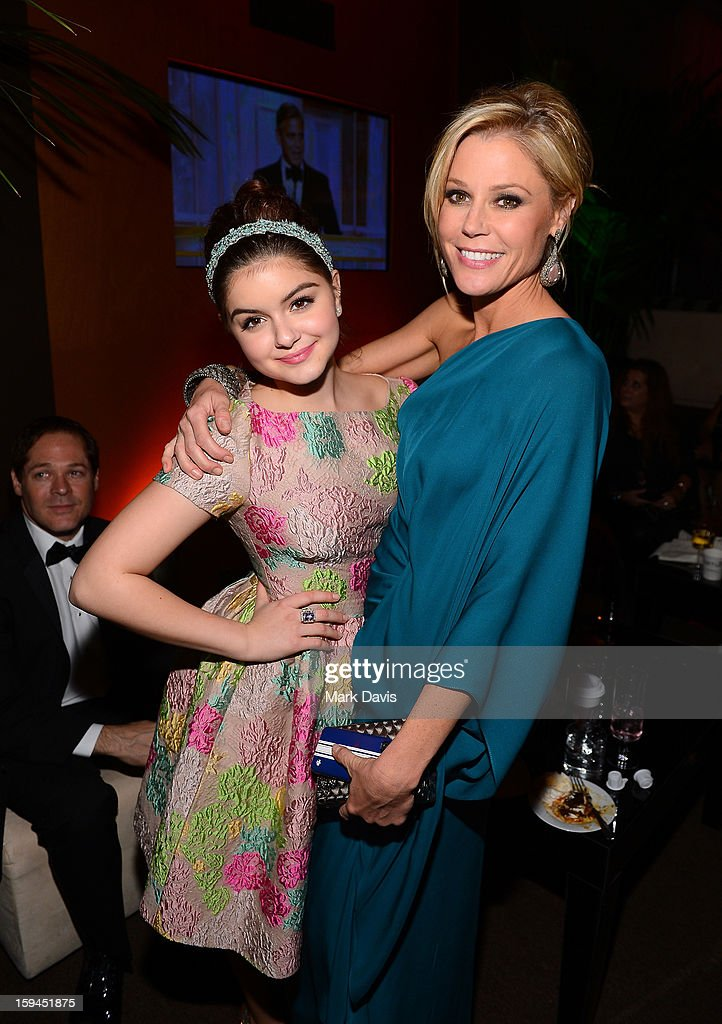 Actresses <a gi-track='captionPersonalityLinkClicked' href=/galleries/search?phrase=Ariel+Winter&family=editorial&specificpeople=715954 ng-click='$event.stopPropagation()'>Ariel Winter</a> (L) and <a gi-track='captionPersonalityLinkClicked' href=/galleries/search?phrase=Julie+Bowen&family=editorial&specificpeople=244057 ng-click='$event.stopPropagation()'>Julie Bowen</a> attend the FOX After Party for the 70th Annual Golden Globe Awards held at The FOX Pavillion at The Beverly Hilton Hotel on January 13, 2013 in Beverly Hills, California.