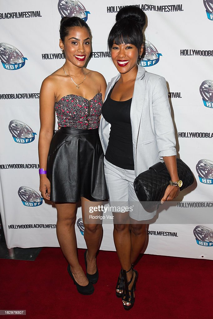 Actresses Ashley A. Williams (L) and <a gi-track='captionPersonalityLinkClicked' href=/galleries/search?phrase=Denyce+Lawton&family=editorial&specificpeople=758538 ng-click='$event.stopPropagation()'>Denyce Lawton</a> attend the Opening Night for the Hollywood Black Film Festival (HBFF) Arrivals at The Ricardo Montalban Theatre on October 2, 2013 in Hollywood, California.