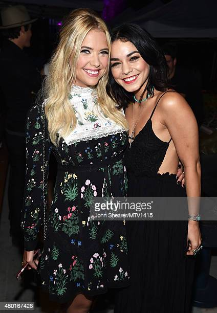 Actresses Ashley Benson and Vanessa Hudgens attend the MTV Fandom Awards San Diego at PETCO Park on July 9 2015 in San Diego California