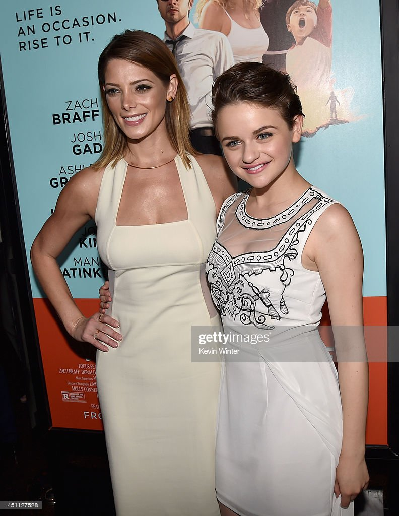 Actresses <a gi-track='captionPersonalityLinkClicked' href=/galleries/search?phrase=Ashley+Greene&family=editorial&specificpeople=781552 ng-click='$event.stopPropagation()'>Ashley Greene</a> and <a gi-track='captionPersonalityLinkClicked' href=/galleries/search?phrase=Joey+King+-+Actress&family=editorial&specificpeople=2264584 ng-click='$event.stopPropagation()'>Joey King</a> attend Focus Features' 'Wish I Was Here' premiere at DGA Theater on June 23, 2014 in Los Angeles, California.
