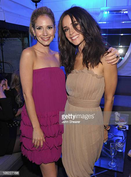 Actresses Ashley Jones and Abigail Spencer attend 'Cirque du TACORI' at the Viceroy Hotel on October 12 2010 in Santa Monica California