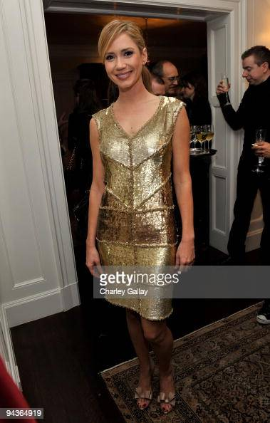 Actresses Ashley Jones attends an evening of fashion and compassion hosted by Zooey Deschanel and Emily Deschanel with Vanity Fair Cotton benefitting...
