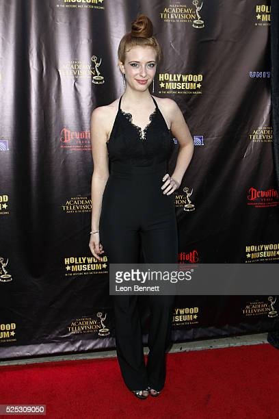 Actresses Ashley Pearce attends the 2016 Daytime Emmy Awards Nominees Reception Arrivals at The Hollywood Museum on April 27 2016 in Hollywood...