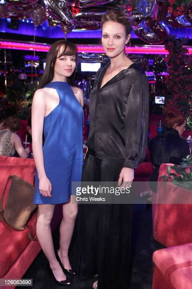 Actresses Ashley Rickards and Beau Garrett attend Stella McCartney Crystal's Las Vegas Store Opening Party At The Peppermill on February 15 2011 in...