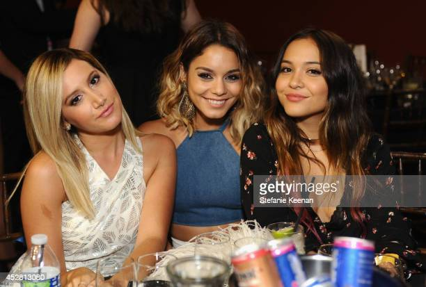 Actresses Ashley Tisdale Vanessa Hudgens and Stella Hudgens at the 2014 Young Hollywood Awards brought to you by Samsung Galaxy at The Wiltern on...