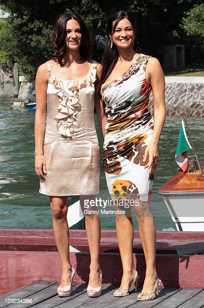 Actresses Asia Argento and Manuela Arcuri attend the 68th Venice Film Festival on September 1 2011 in Venice Italy