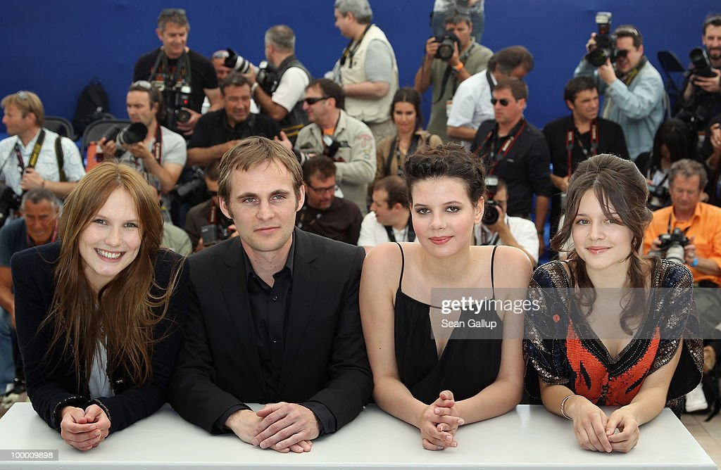 Actresses Audrey Bastien,Selma El Moussi, director Fabrice Gobert and actress Ana Girardot attend the 'Lights Out' Photocall at the Palais des Festivals during the 63rd Annual Cannes Film Festival on May 20, 2010 in Cannes, France.