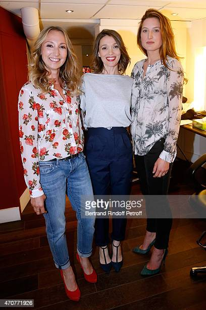 Actresses Audrey Lamy Anne Marivin and Julia Piaton present the movie 'Le Talent de mes amis' wich Main Guest of the show Alex Lutz plays in and is...