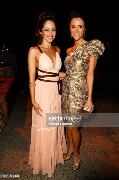 Actresses Autumn Reeser and Abigail Spencer attend the afterparty for HBO's 'Entourage' Season 7 premiere held at Paramount Theater on the Paramount...